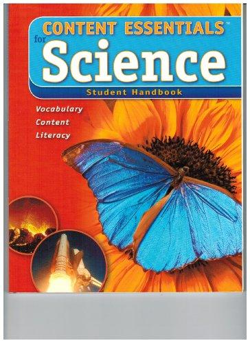Content Essentials for Science Student Handbook Level A
